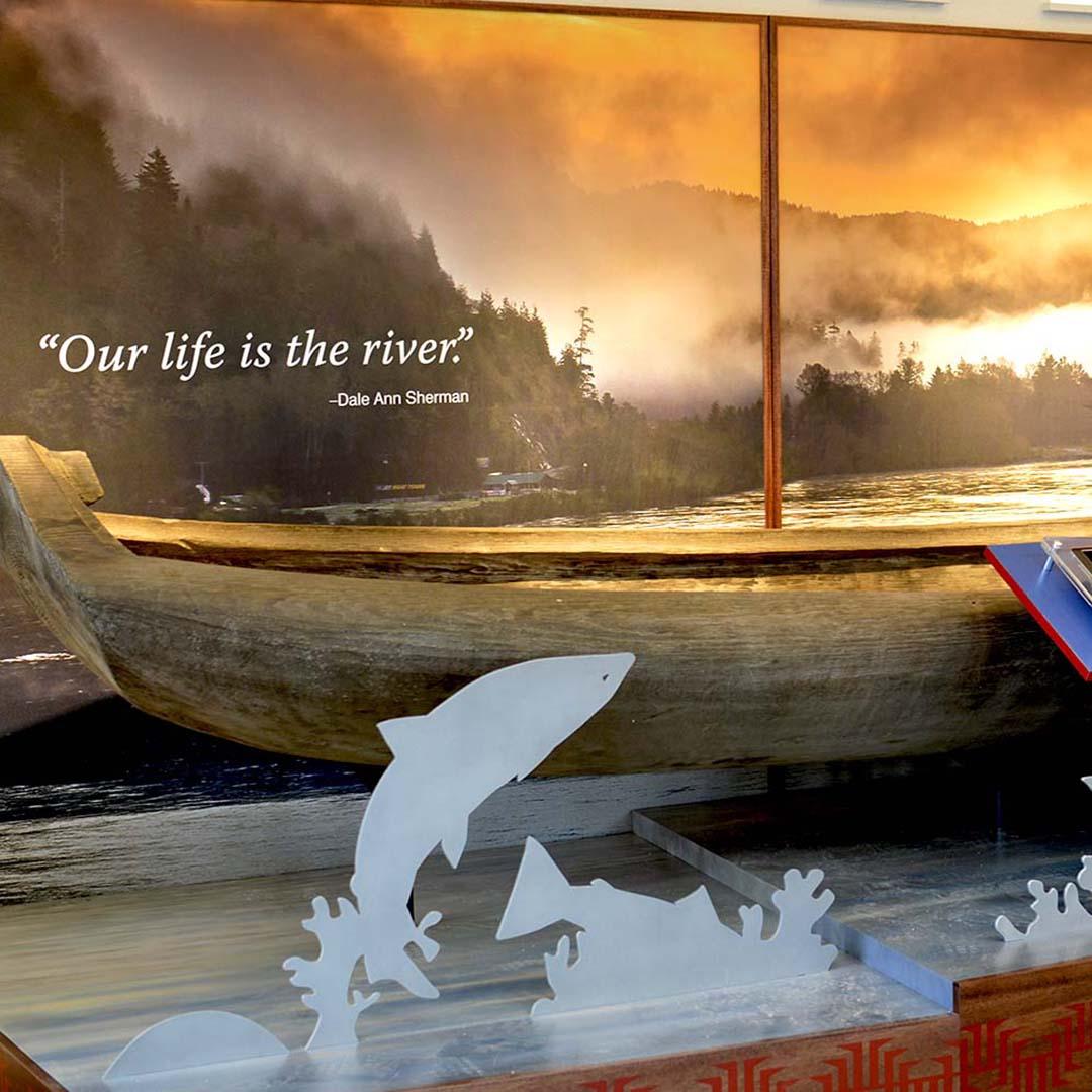 Yurok County Visitor Center | Canoe Exhibit - Square | Klamath, CA