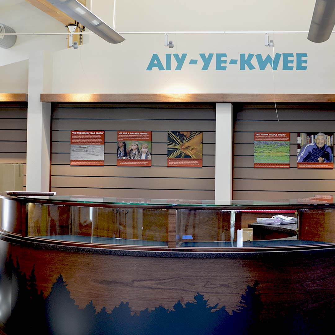 Yurok County Visitor Center | Reception Desk - Square | Klamath, CA