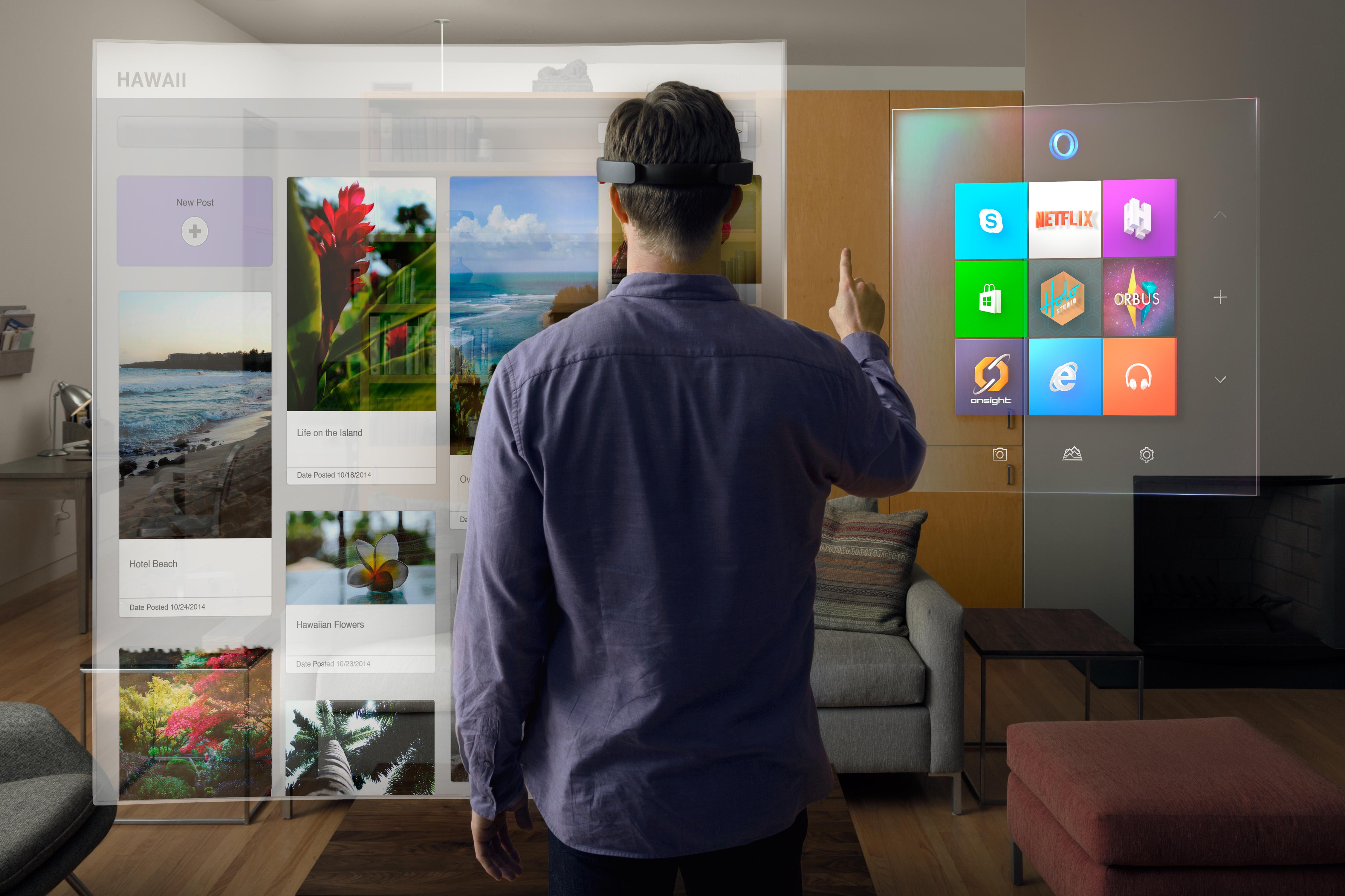 Microsoft's premiere AR device