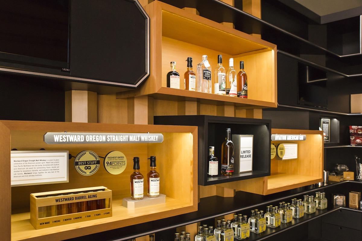 House Spirits Distillery | Main Display Close Up| Portland, OR