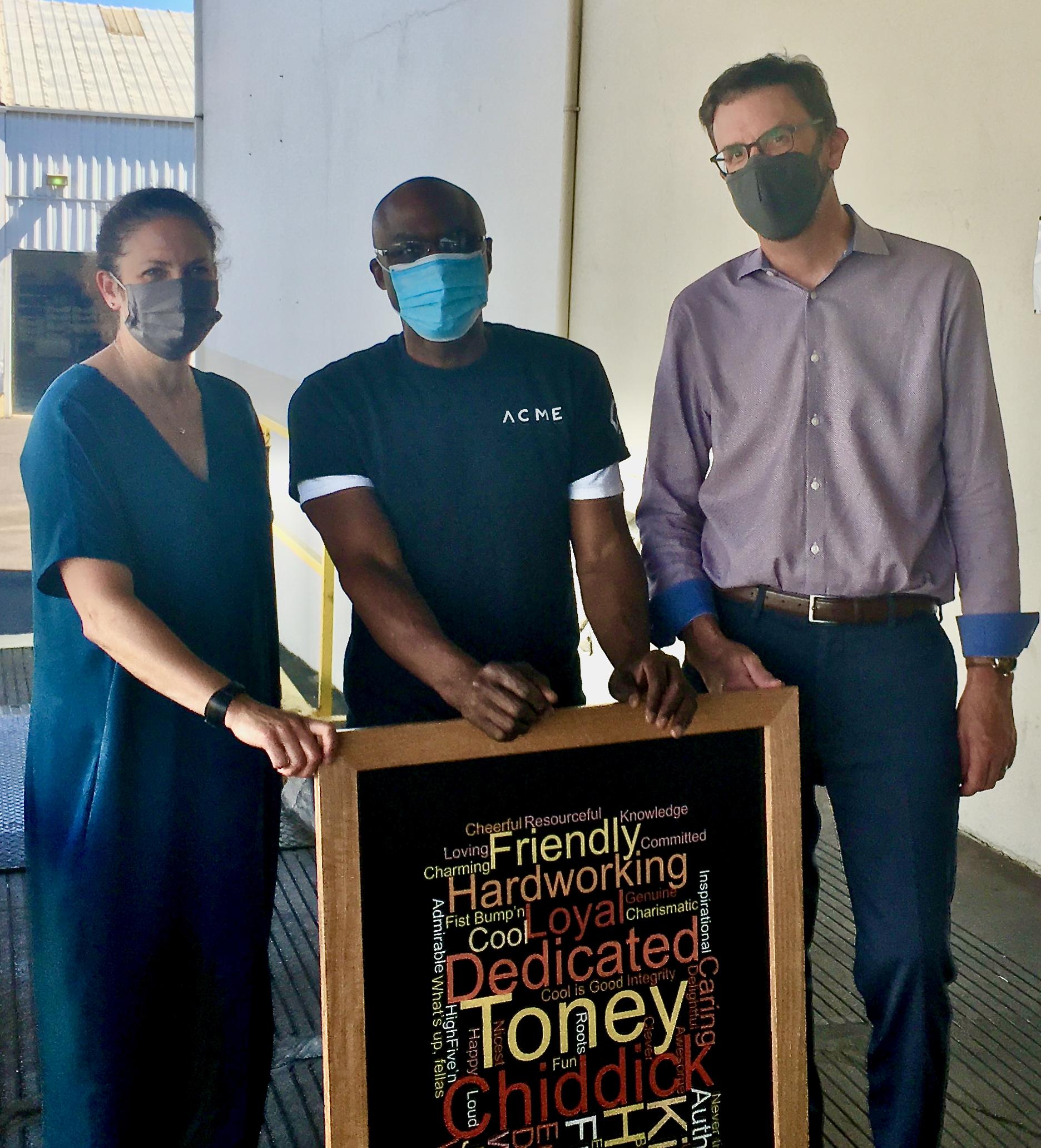 Toney Chiddick Celebration | Toney with Owners | Portland, OR