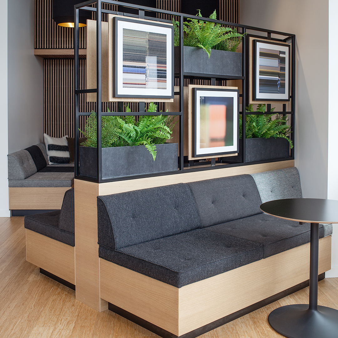 23rd & Jackson | Gallery Lobby Planter Banquette | Seattle, WA - Square