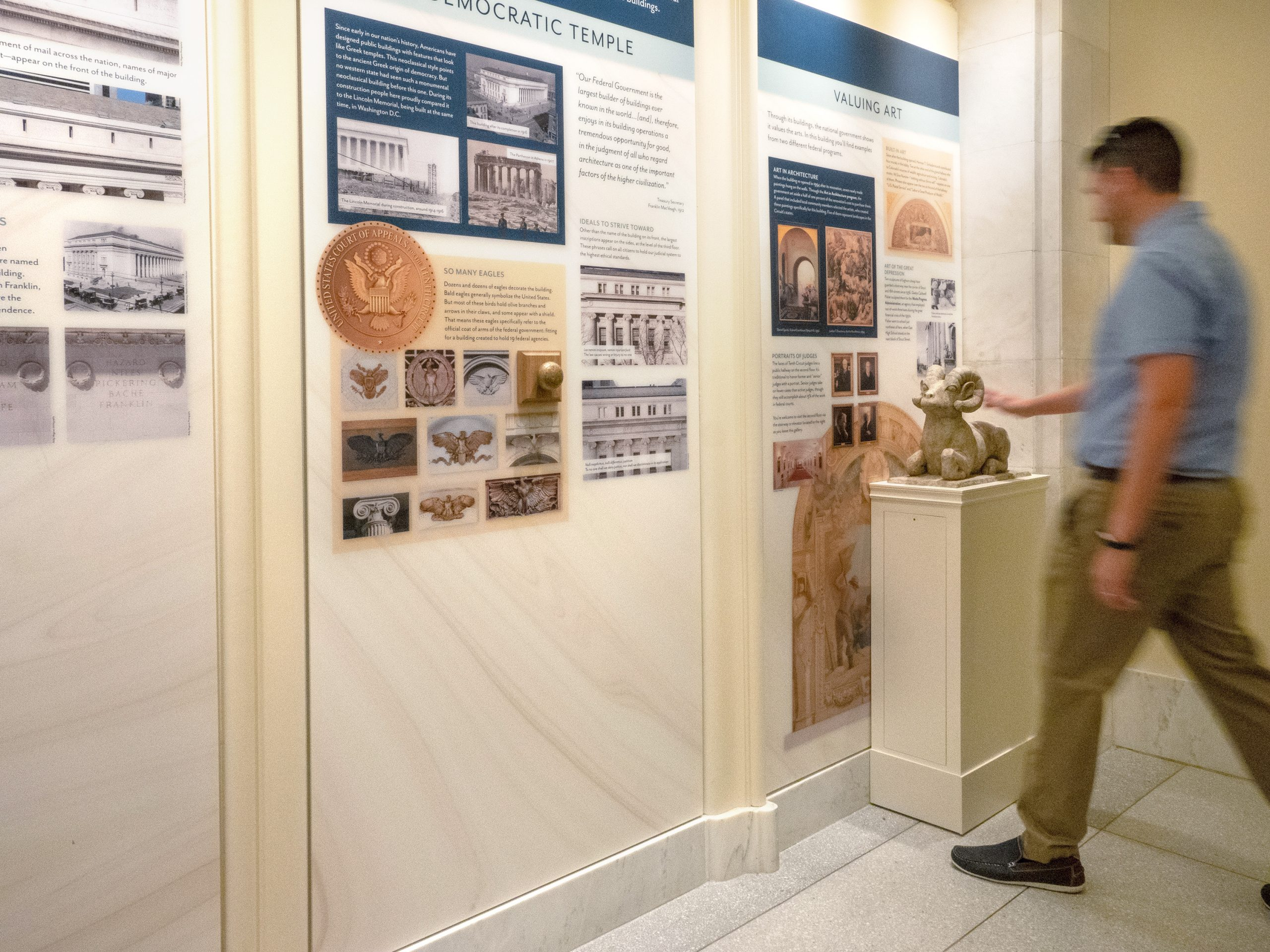 Tenth Circuit Court | Wall Exhibit with Stand | Denver, CO