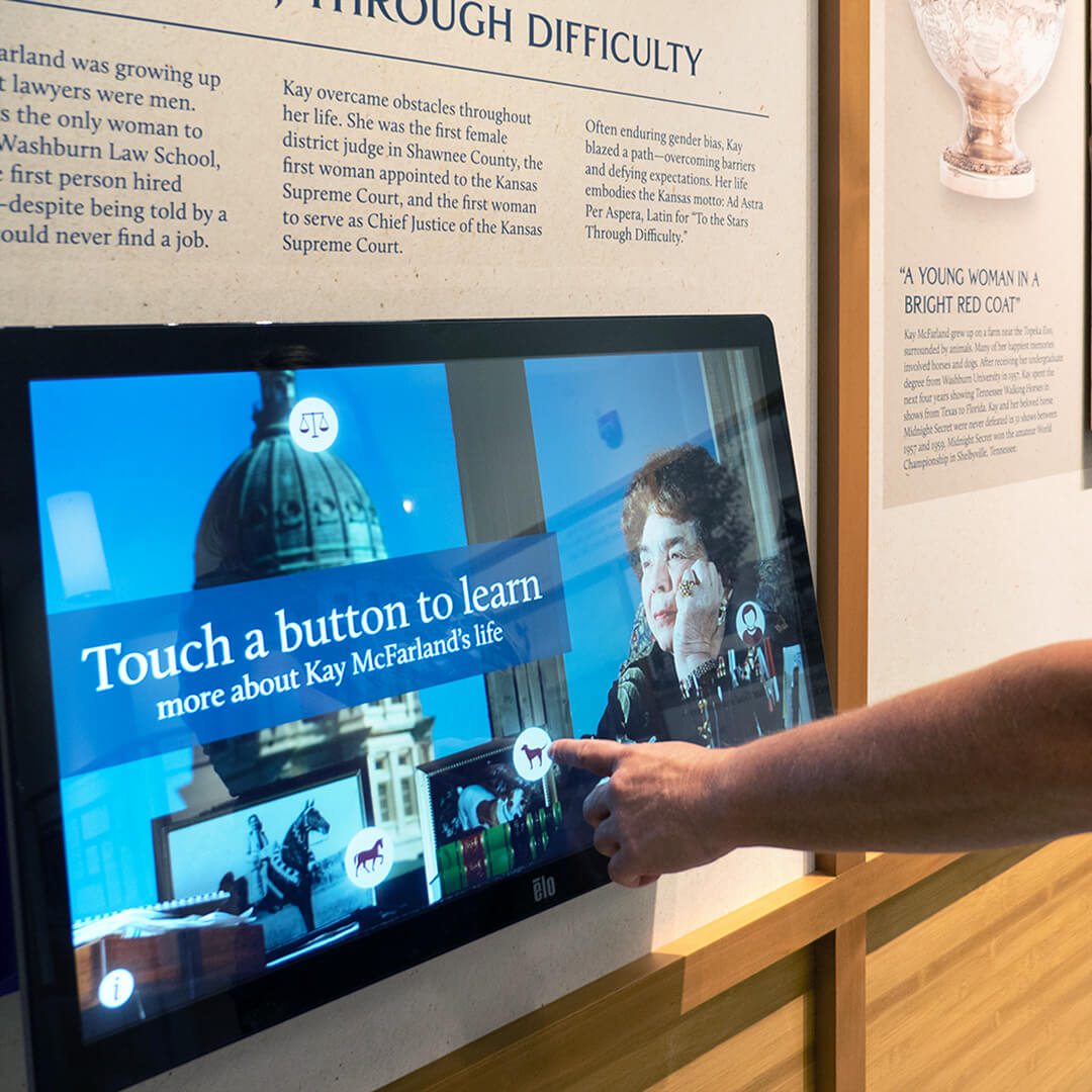 Kay McFarland Garden | Touch Screen integration | Topeka, KS - Square