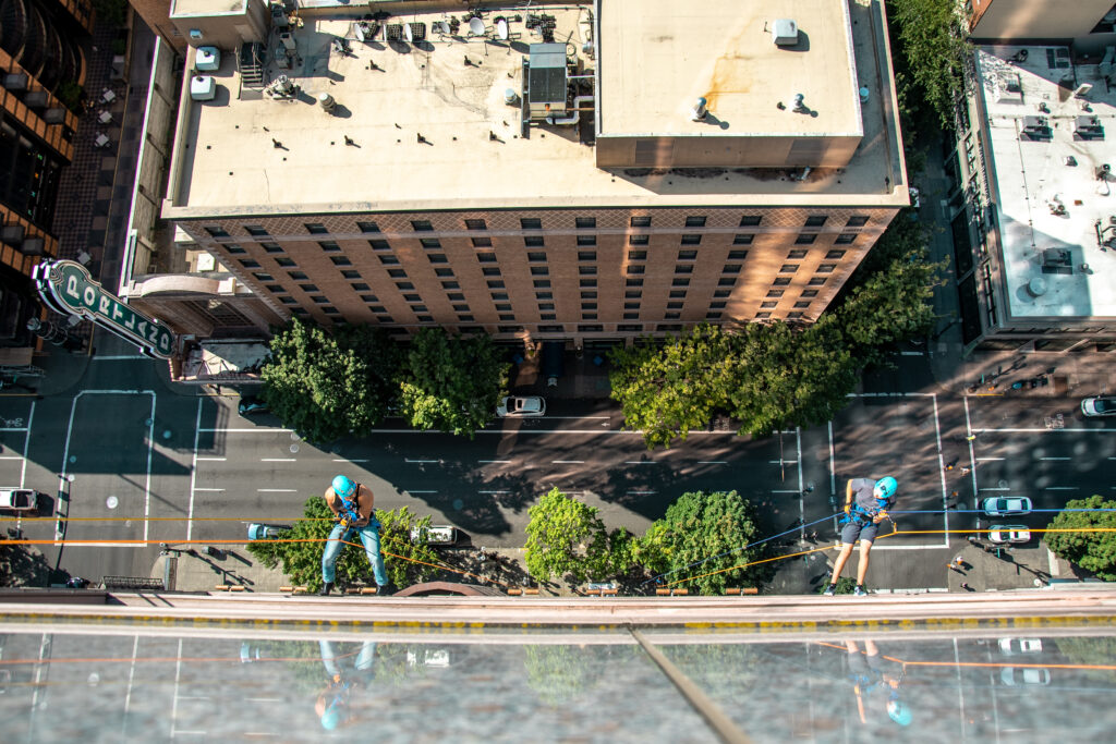 BBBS Rappel for a Reason event