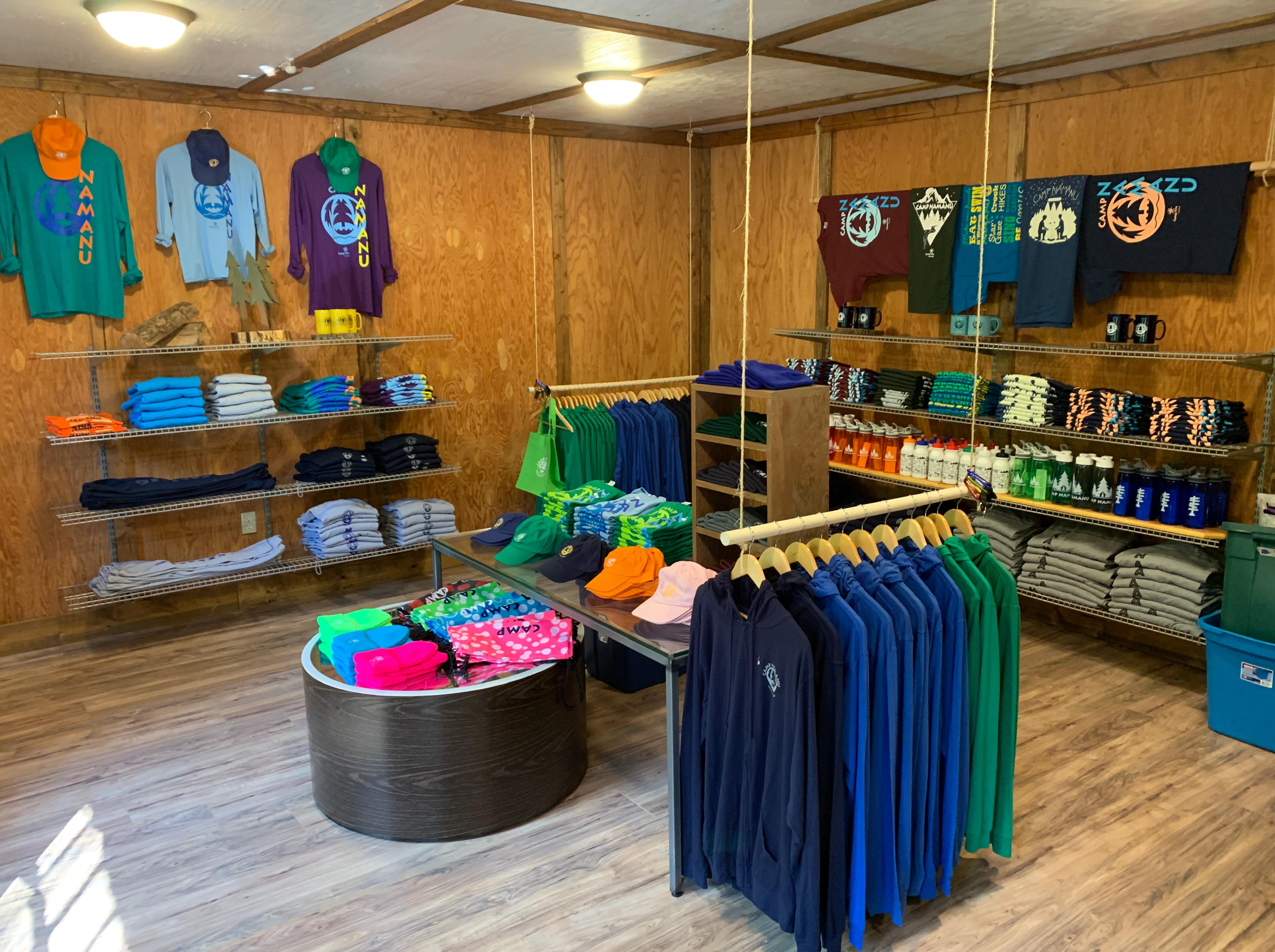 Camp Naumanu newly renovated camp store and welcome center.