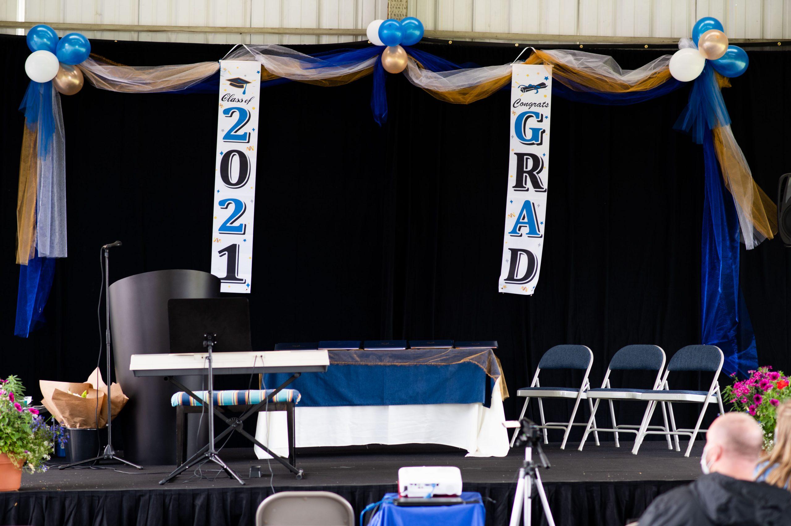 Alliance Charter 2021 Graduation Stage