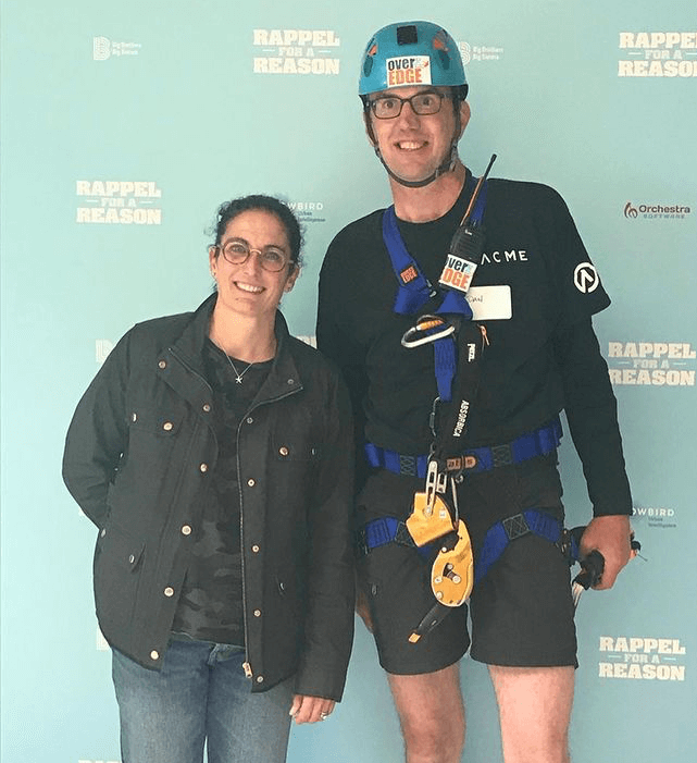 Dan & Suzy, Co-Owners of ACME, at 2019 Rappel for a Reason event.